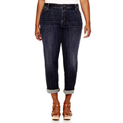 Liz Claiborne® City-Fit Boyfriend Skinny Jeans - Plus