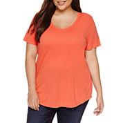a.n.a Short Sleeve Scoop Neck T-Shirt-Plus