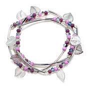 Mixit™ Silver-Tone Filigree Leaf 3-pc. Set of Stretch Bracelets
