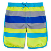 Arizona Striped Swim Trunks - Preschool Boys 4-7
