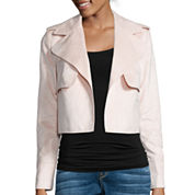 I 'Heart' Ronson Long-Sleeve Faux-Suede Military Jacket