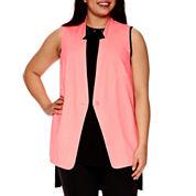 BELLE + SKY™ Sleeveless Sheer-Back Vest - Plus