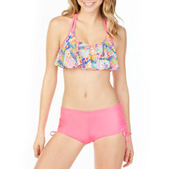 Arizona Flounce Swimsuit Top or Boyshort Bottom-Juniors