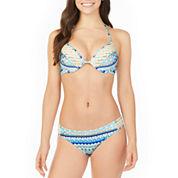 Arizona Geometric Bra Swimsuit Top or Hipster Bottom-Juniors