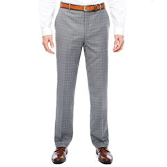STF Travel Stretch Grey Blue Plaid FF Pant Cls