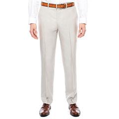 J.Ferrar Bone Shimmer Flat Front Pants-Slim Fit