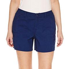 St. John's Bay Cargo Poplin Cargo Shorts