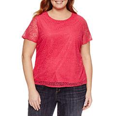 Liz claiborne plus size shirts tops for women jcpenney for Liz claiborne v neck t shirts