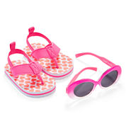 Carter's® Pink Heart Sunglasses and Flip Flops Set - Baby Girls 3m-12m