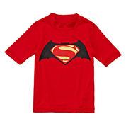 Batman vs. Superman Rash Guard - Preschool Boys 4-7