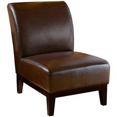 Beckett Bonded Leather Slipper Chair