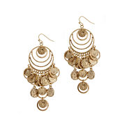 EL by Erica Lyons El By Erica Lyons Gold Over Brass Chandelier Earrings