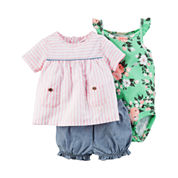 Carter's Girls 3-pc. Short Sleeve Short Set