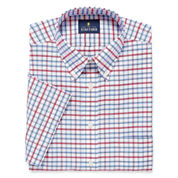 STAFFORD TRAVEL WRINKLE FREE SHORT-SLEEVE OXFORD DRESS SHIRT
