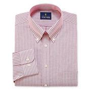 Stafford Wrinkle-Free Oxford Long Sleeve Dress Shirt
