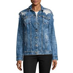 Arizona Oversized Denim Jacket-Juniors