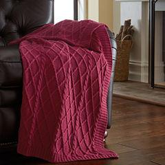 Pacific Coast Textiles Cotton Knit Diamon Throw