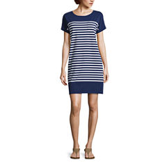 Liz Claiborne Short Sleeve A-Line Dress