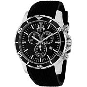 Jivago Mens Black Strap Watch-Jv0121