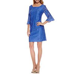 Studio 1 3/4 Sleeve Lace Sheath Dress