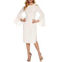 Ronni Nicole Bell Sleeve Shift Dress