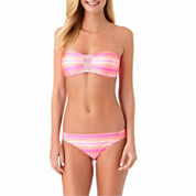 Arizona Stripe Bandeau Swimsuit Top or Hipster Bottoms-Juniors