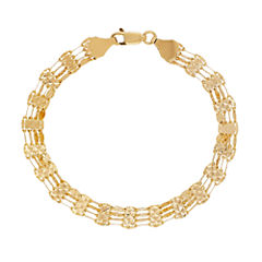 Made In Italy Womens 7 1/4 Inch 14K Gold Link Bracelet
