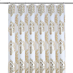 Colordrift Charlize Gold Foil Shower Curtain