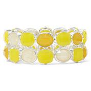Liz Claiborne® Yellow Stone Silver-Tone Stretch Bracelet
