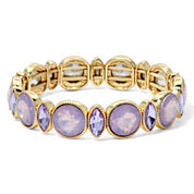 Monet® Pink and Purple Stone Gold-Tone Stretch Bracelet