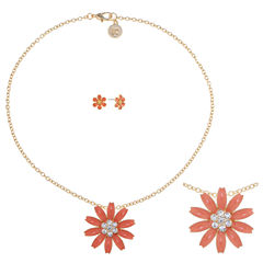 Liz Claiborne Womens 2-pc. Orange Jewelry Set