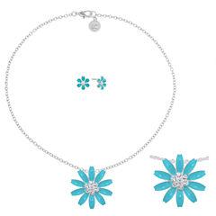 Liz Claiborne Womens 2-pc. Blue Jewelry Set