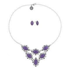 Liz Claiborne Womens 2-pc. Purple Jewelry Set