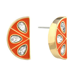 Liz Claiborne White Stud Earrings