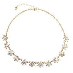 Monet Jewelry Womens White Collar Necklace