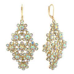 Monet Jewelry White Chandelier Earrings