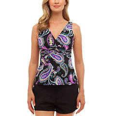 St. John's Bay® Crazy Love Over the Shoulder Tankini or Board Short