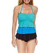 Pure Paradise® Bra Sized Tankini Swimsuit Top or Adjustable Side Hipster