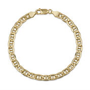 Made In Italy Unisex 8 1/2 Inch 14K Gold Over Silver Chain Bracelet