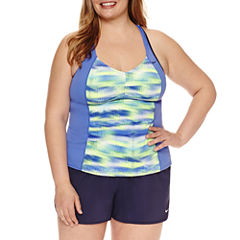 Nike® Solid Tankini Swimsuit Top or Boardshorts-Plus