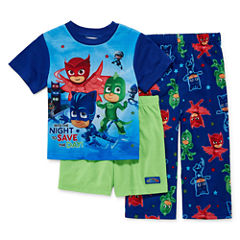 Boys 3-pc. PJ Masks Short Sleeve Kids Pajama Set-Toddler