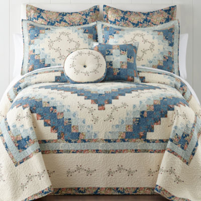 Home Expresions™ Cassandra Blue Pieced Bedspread U0026 Accessories