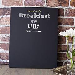 Cathy's Concepts Personalized Breakfast Menu Chalkboard
