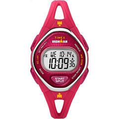 Timex Ironman Sleek 50 Womens Pink Strap Watch-Tw5m107009j