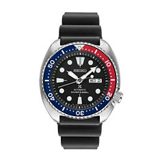 Seiko Prospex Mens Black Strap Dive Watch-Srp779