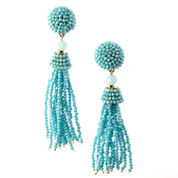 Natasha Accessories Blue Crystal Drop Earrings