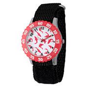 Disney Mickey Mouse Boys Black Strap Watch-Wds000110