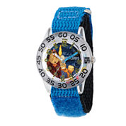 Disney Time Teacher Beauty and the Beast Boys Blue Strap Watch-W002920