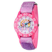 Disney Time Teacher Disney Princess Girls Purple Strap Watch-W002947