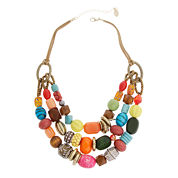 El By Erica Gold Over Brass Beaded Necklace